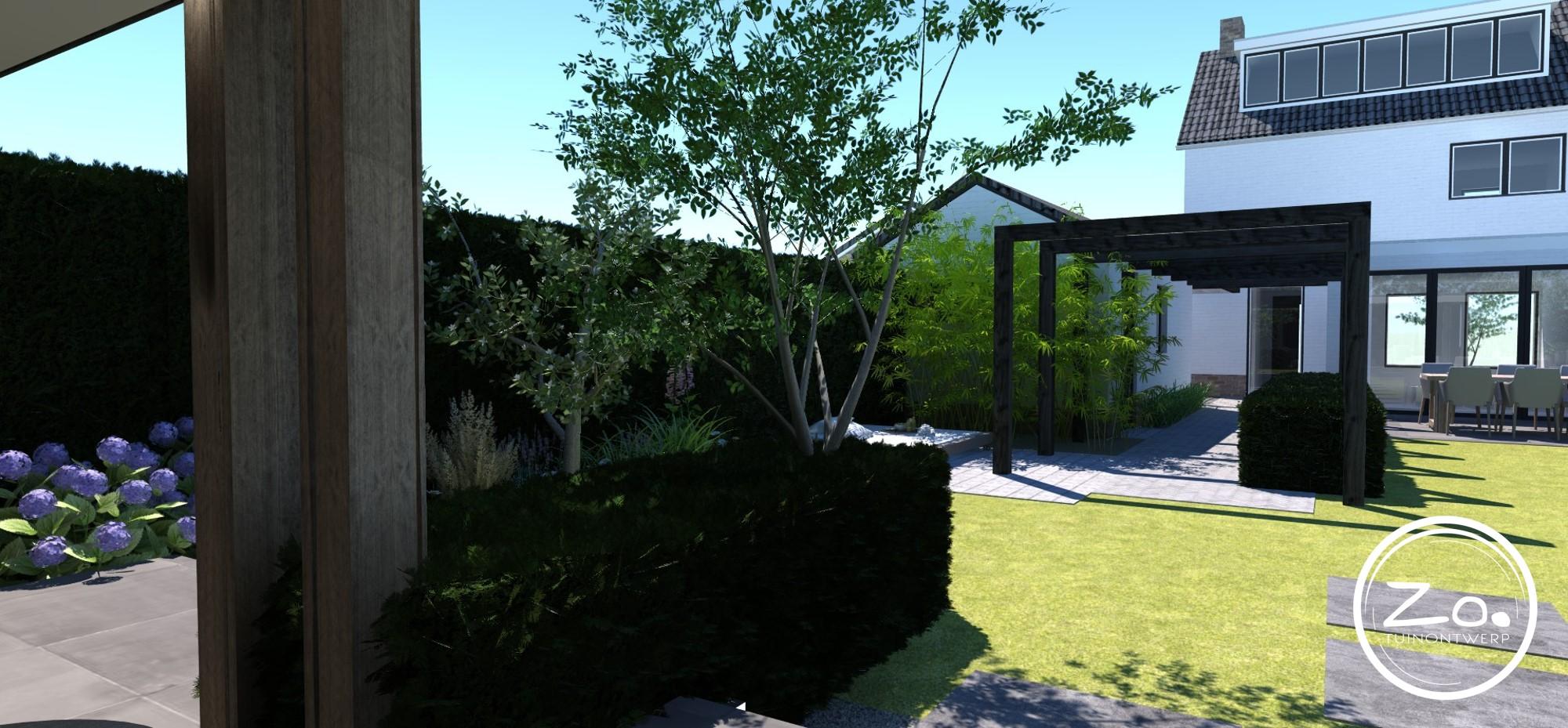 ZO. Tuinontwerp   voor- achtertuin