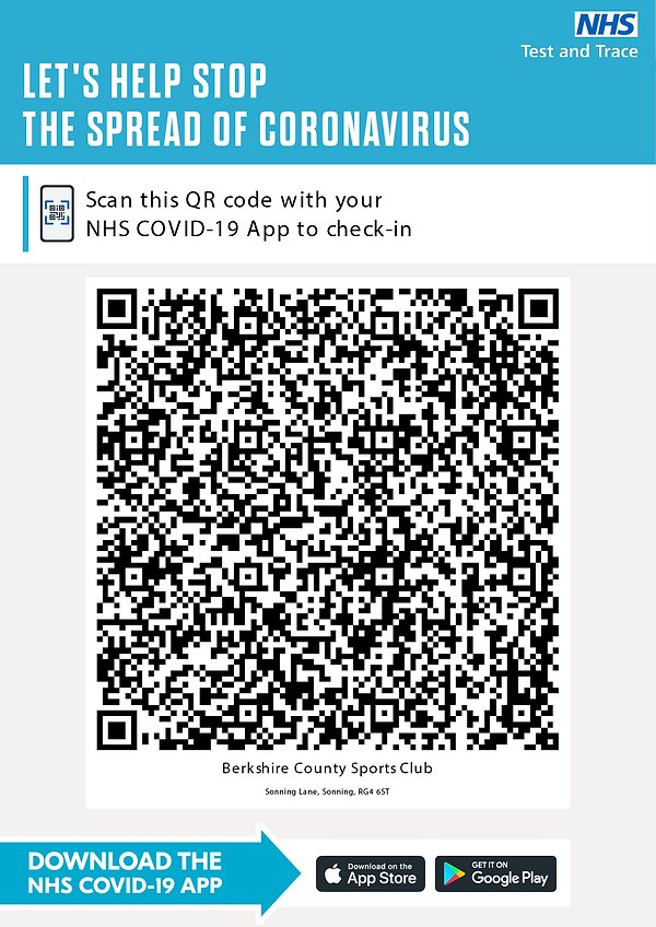 NHS Test and Trace App QR Code for BCSC.
