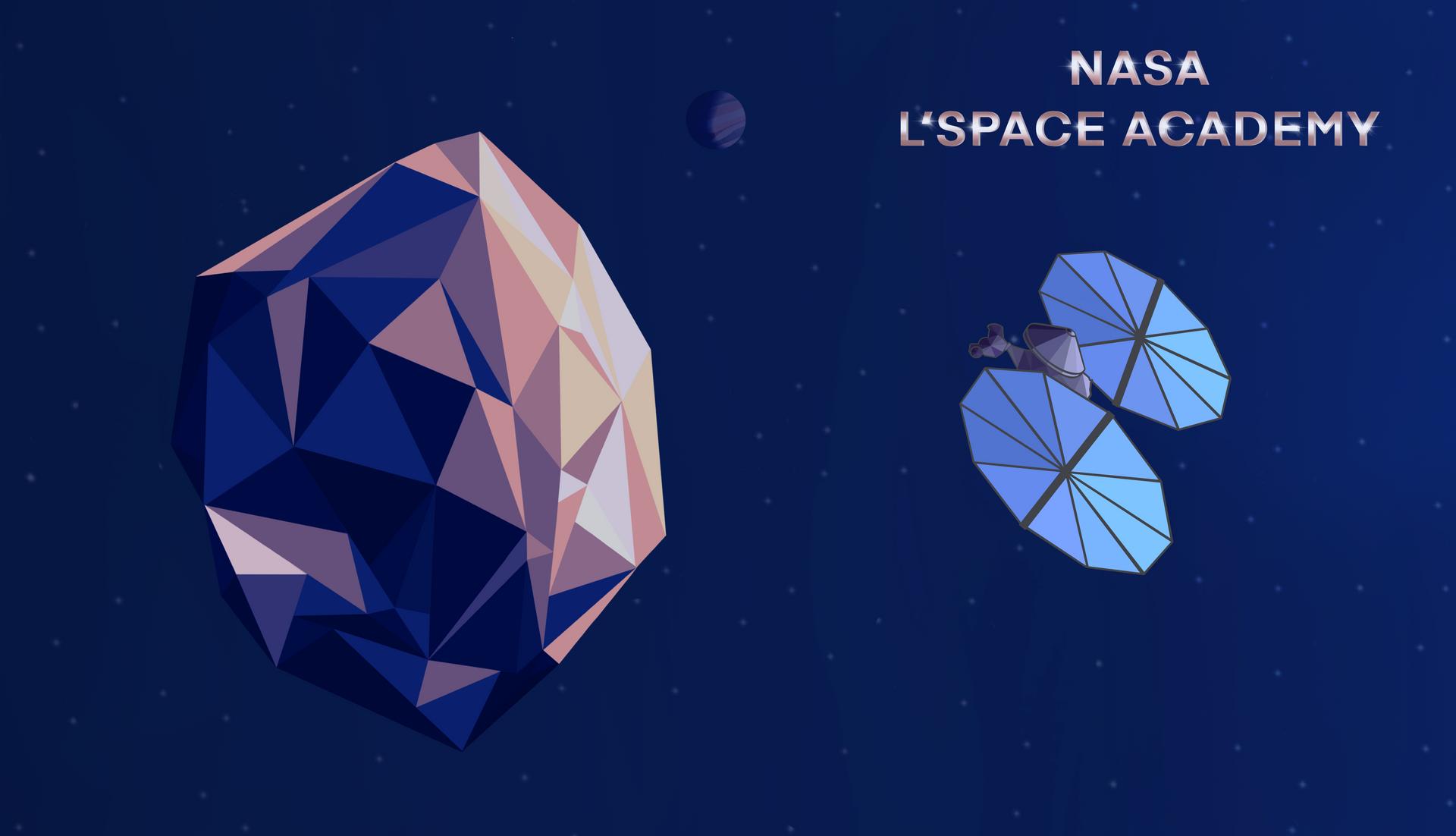 Geometric Asteroid Desktop Background .png