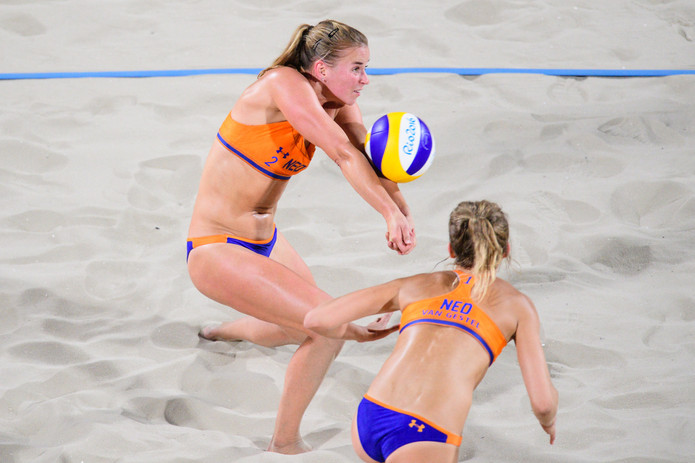 Jantine together with Sophie van Gestel during the Rio Olympics 2016