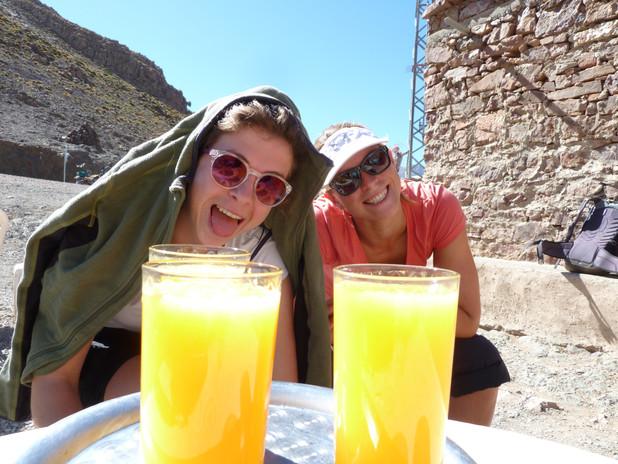 Hagar & Jantine in a mountain village