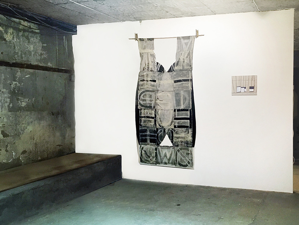 wordress (installed beside painting by Maya Strauss)
