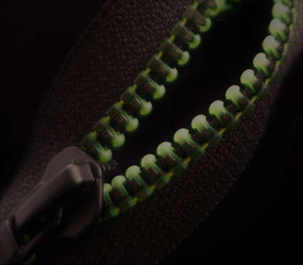 Black Print on Green Teeth