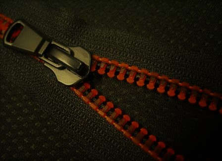 Chain Print Black on Orange