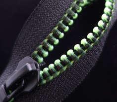Black Print on Fluo Green