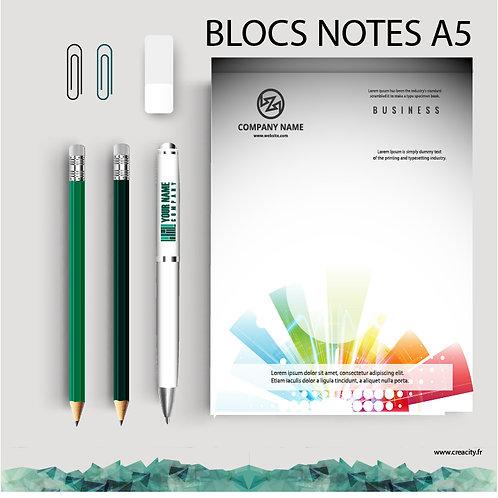 100 Blocs notes A5 de 25 feuilles A5 Recto