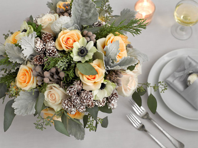 These winter arrangements are simply beautiful, adding elegance with simplicity.