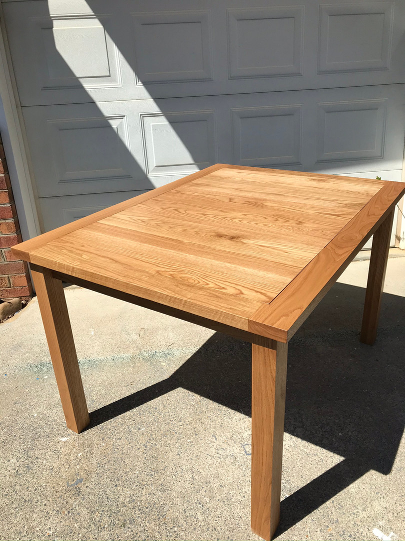 White Oak Puzzle Table