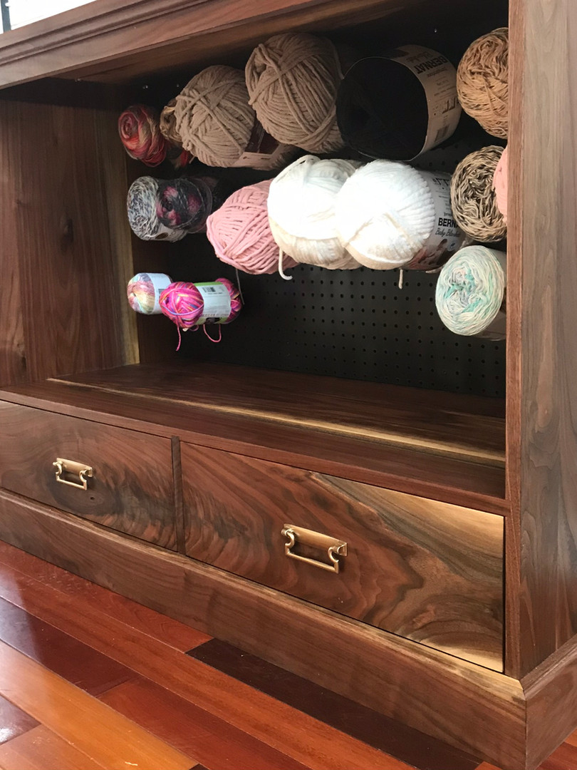 Walnut Yarn Storage Cabinet