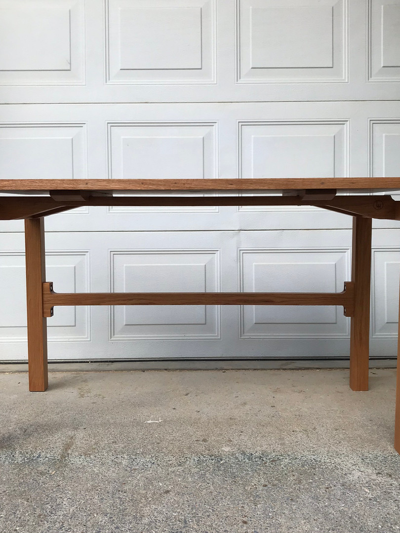 White Oak Table with Floating Top