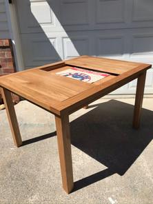 White Oak Puzzle Table
