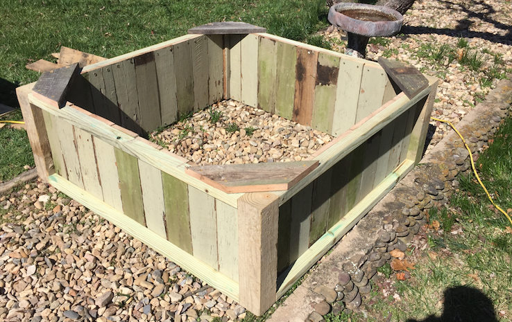 Raised Bed from reclaimed lumber