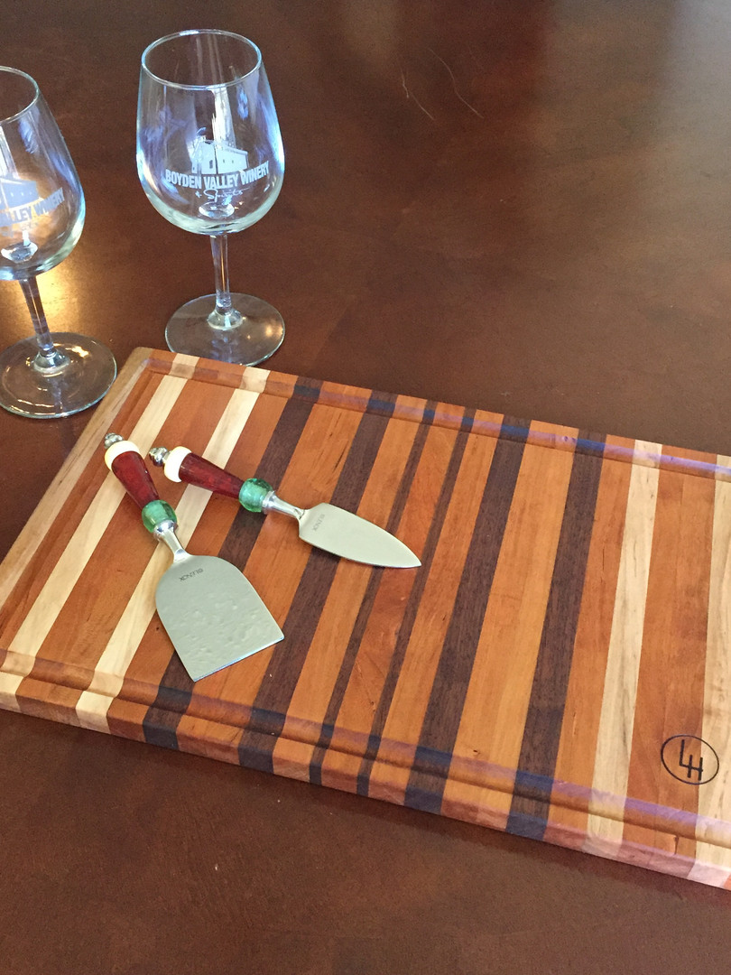 Cherry and Walnut cutting board