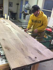 Walnut Desk - Clamping