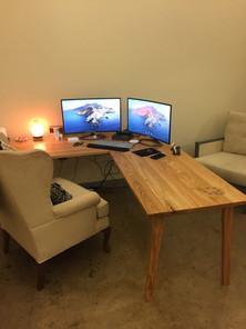 Red Oak L-Desk