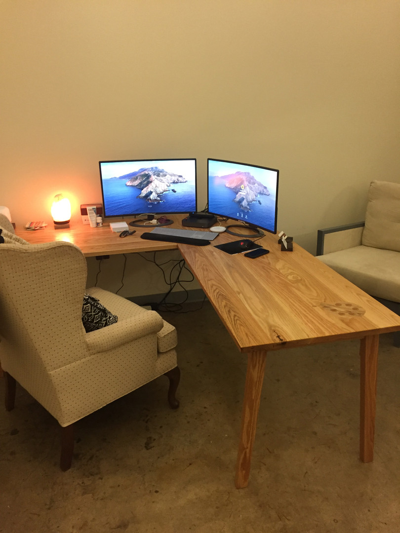 Red Oak L-Desk