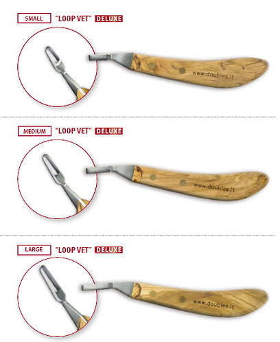 Double S Loop Vet Knife (Available in 3 Sizes)