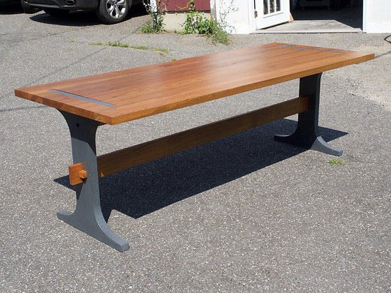 Exterior Teak Cement Table
