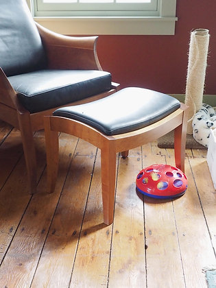 Leather Upholstered Seat& Footstool