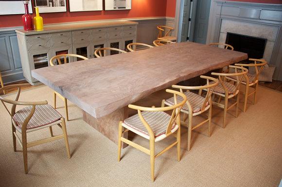 Slab Leg Dining Table