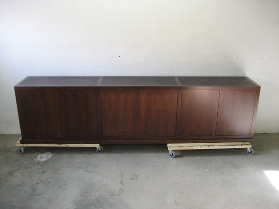 Leather Topped TV Console