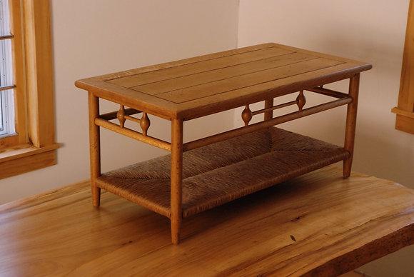 Coffee Table with Rush Shelf