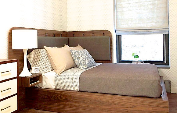 Corner Platform Bed