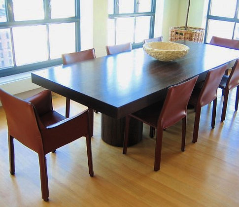 Triple Pedestal Slab Table