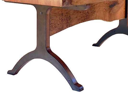Cladded Metal Arched Foot Table