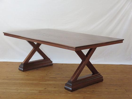 Elaborate Trestle Base Table