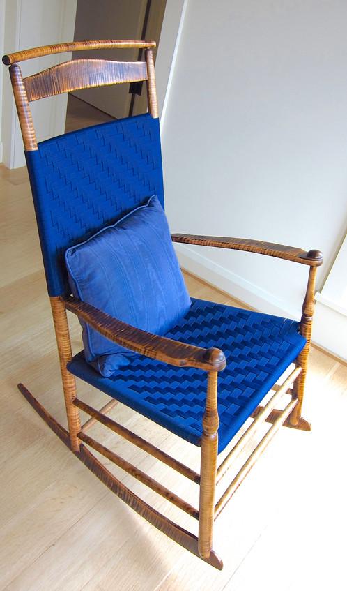 ... Mt. Lebanon #7 Tiger Maple Rocking Chair ...