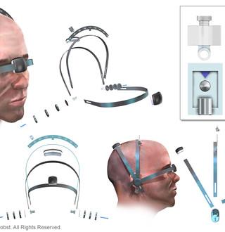 Neurosurgical Head Frame Goniometer
