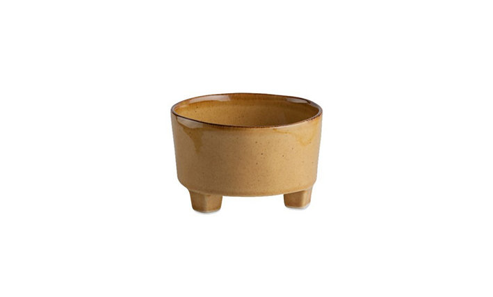 RIVIERA - Soup Footed Bowl Ocra