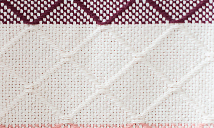 WINE AND PINK TILE - Cotton Throw