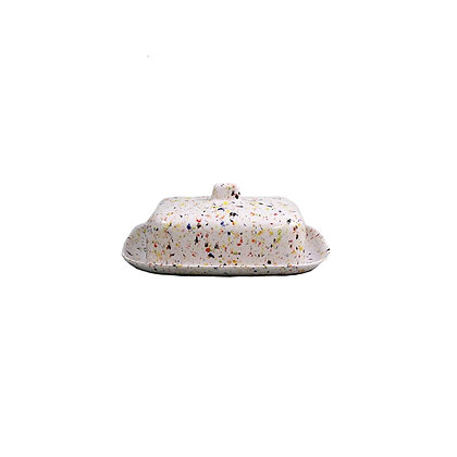 BUTTER DISH - Speckled Melamine