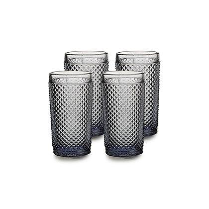 Set of 4 Bicos Highballs Glasses - Grey
