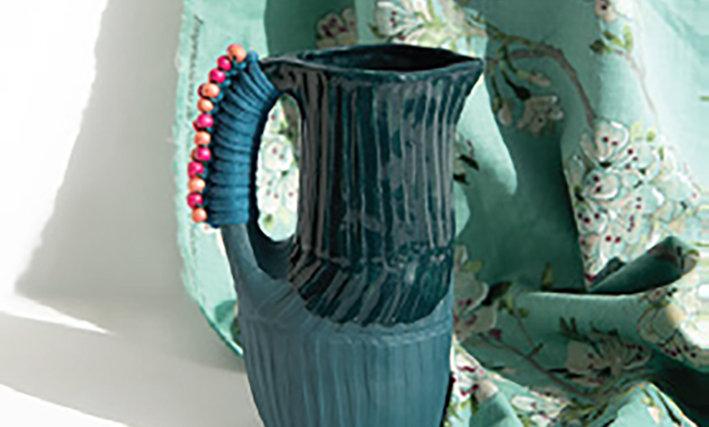 Small Blue Green Jug