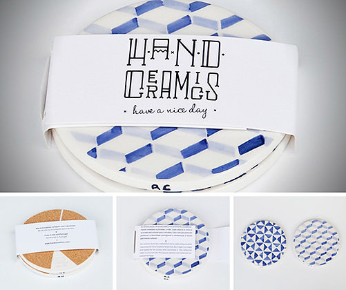 COASTERS - Set of 2 (blue b)