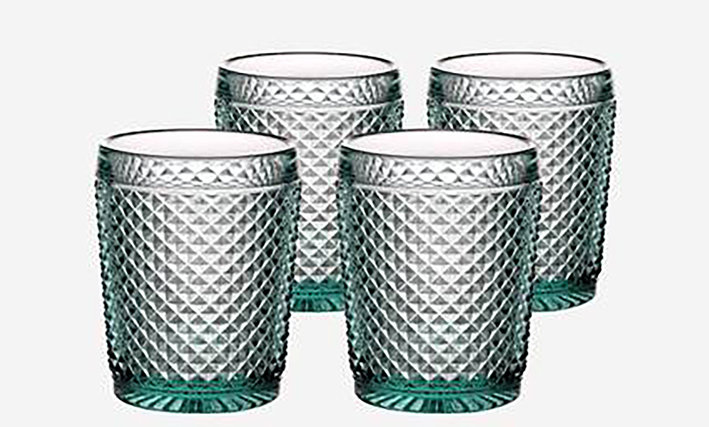Set of 4 Bicos Old Fashion Glasses - Green
