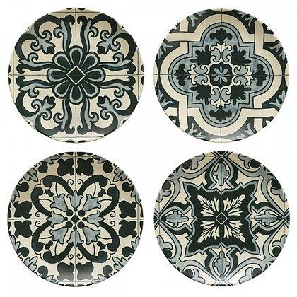 LAMEGO - Set of 4 Salad Plates