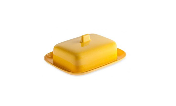 BUTTER DISH - Yellow Melamine