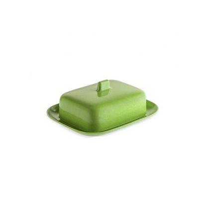 BUTTER DISH - Green Melamine