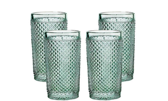 Set of 4 Bicos Highballs Glasses - Green