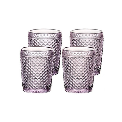 Set of 4 Bicos Old Fashion Glasses - Pink