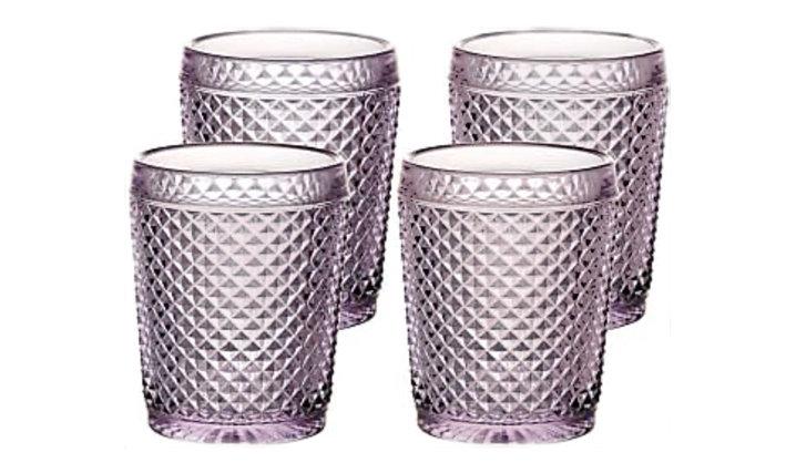 Set of 4 Bicos Old Fashion Glasses - Pink