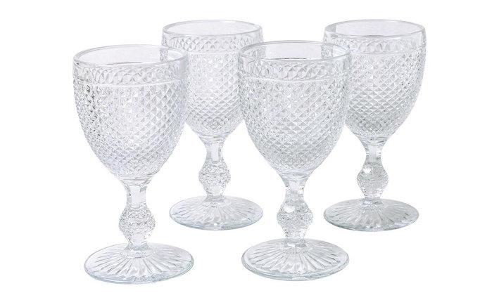 Set of 4 Bicos Goblet Glasses - Transparent