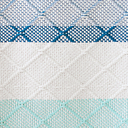 BLUE AND MINT TILE - Cotton Throw