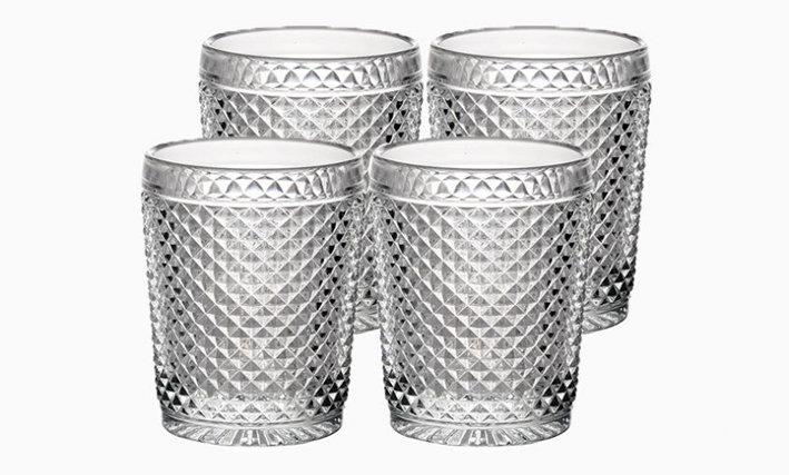 Set of 4 Bicos Old Fashion Glasses - Transparent