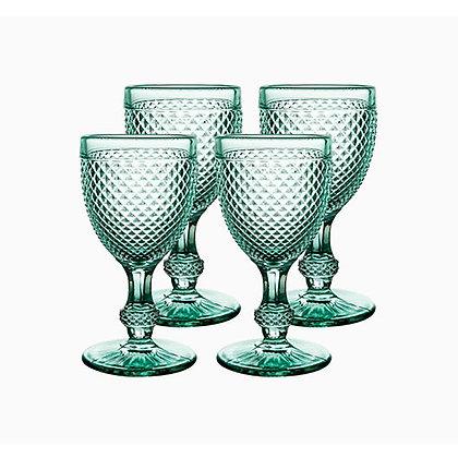 Set of 4 Bicos Goblet Glasses - Green