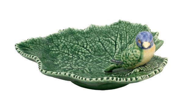 RAGWORT LEAF with BLUE BIRD